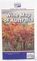 Wine Map of Australia Faltkarte