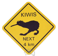 Mousepad Warnschild Kiwi (NZ)