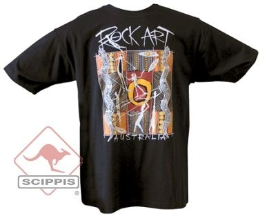 T-Shirt Rock Art schwarz