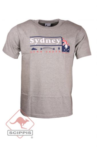 T-Shirt Sydney Down Under grau