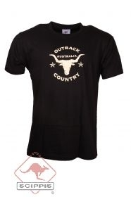 T-Shirt Outback Country schwarz