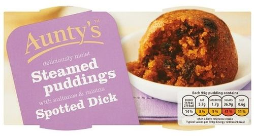 Spotted Dick Steamed Puddings 2x95g (NZ)