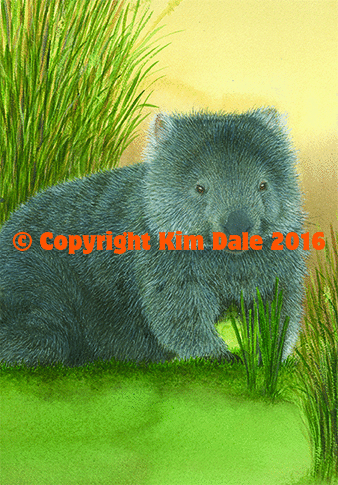 Grusskarte Common Wombat