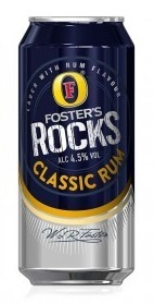 Foster's Rocks Classic Rum Lager Beer 0,44l Dose (EU)