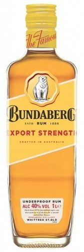 Bundaberg Rum Export Strength 40% (QLD) 1L