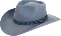Akubra Snowy River glen grey