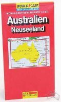 AUS-NZ World-Kontinentalkarte 1: 4Mio