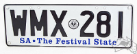 South Australia Nummernschild ca. 37 x 13 cm
