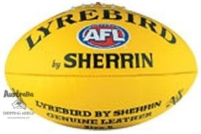 Football Australian Rules Lyrebird by Sherrin Leder Gelb