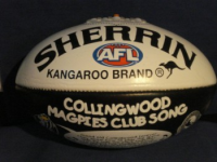 Football Australian Rules Sherrin Collingwood