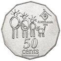 50c Münze Australien Year of the Family 1994