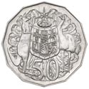 50c Münze Australien Coat of Arms