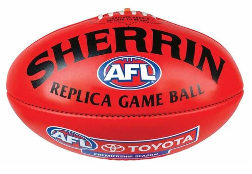 Football Australian Rules Sherrin Replica Game Ball Leder Rot