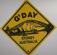 Warnschild G'Day Sydney Australia