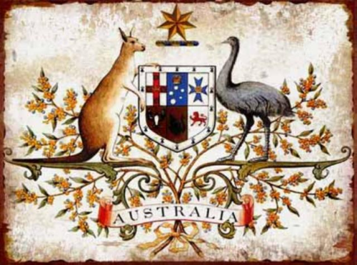 Blechschild Australian Coat of Arms