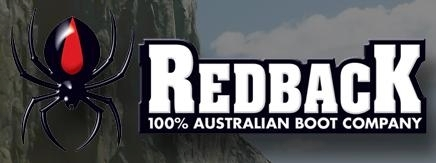 Redback Glattleder schwarz mit Stahlkappe Australia