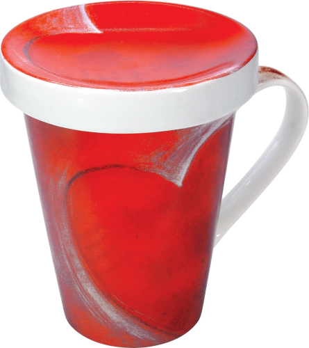 Teetasse One Hand Topper Big Heart, mit Siebeinsatz