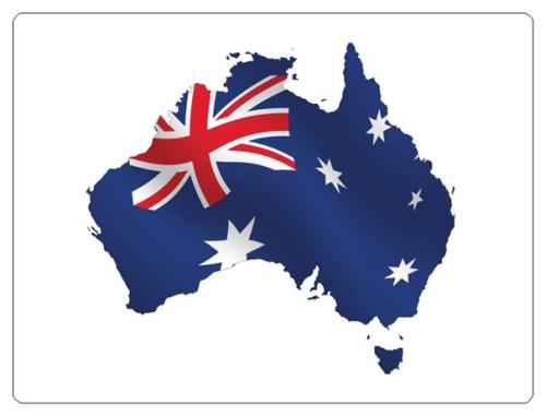 Aufkleber Queensland Flagge Fahne 8 x 5 cm Autoaufkleber Sticker