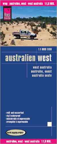 Australien West Faltkarte 1:1,8 Mio Map