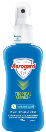 Aerogard Pump Repellent 135ml Tropical Strength