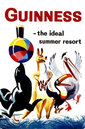 Blechschild Guinness The Ideal Summer Resort ca. 20x30cm