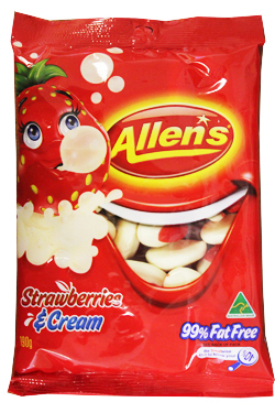 Strawberries & Cream Allens 190g