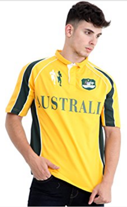 Polo-Shirt Rugby Australien gelb Six Nations Cup
