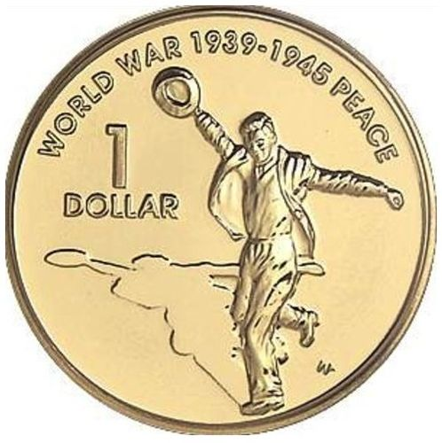 $1 Münze Australien World War II 60 Years Peace 2005