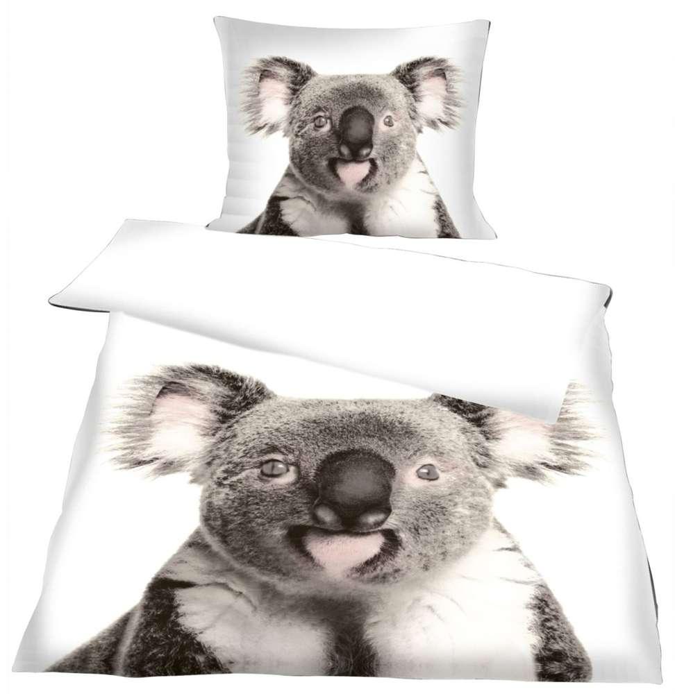 Beeindruckend Microsatin Bettwäsche Das Beste Von Bettwäsche Koala 135x200+80x80cm Micro Satin