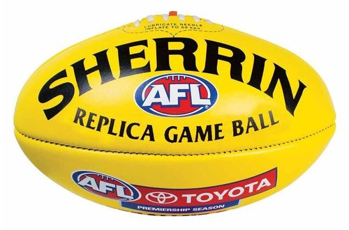 Football Australian Rules Sherrin Replica Game Ball Leder Gelb